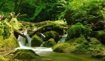 Rivers waterfalls HD wallpaper