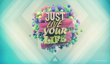 Multicolor typography live digital art life misc lacza HD wallpaper