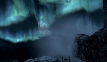 Mountains Schnee skyscapes The Elder Scrolls V: Skyrim  HD wallpaper