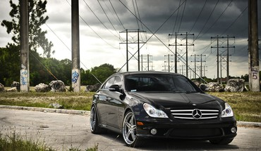 voitures noires clsclass MercedesBenz  HD wallpaper