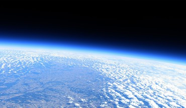 Earth atmosphere blue bright clouds HD wallpaper