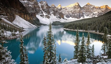 Alberta banff national park canada winter HD wallpaper