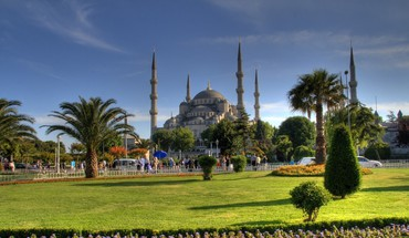 Istanbul mosque blue islamic mosques al aqsa HD wallpaper
