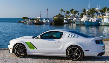Ford Mustang 2014 stade de côté roush 3  HD wallpaper