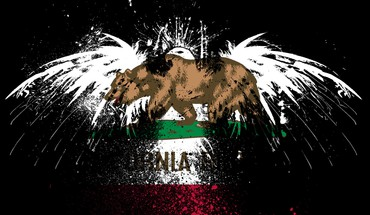 Eagles Hawk drapeaux Etat-Unis Californie  HD wallpaper