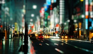 Bokeh city lights cityscapes night streets HD wallpaper