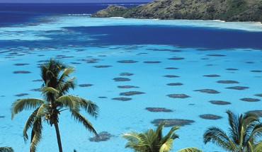 Gambier islands french polynesia south pacific HD wallpaper