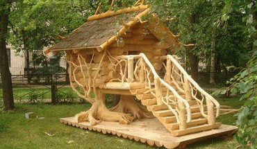 Tree house HD wallpaper