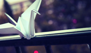 Origami grue de papier  HD wallpaper