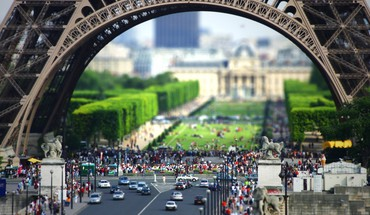 Paris cityscapes pastatai pakreipti -shift  HD wallpaper