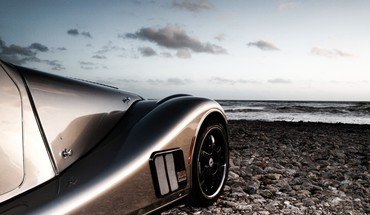 Beach sports cars HD wallpaper