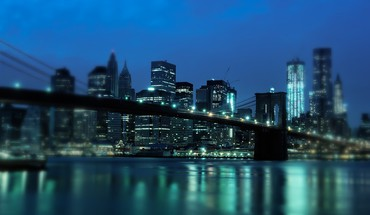 Cityscapes city lights manhattan bridge HD wallpaper