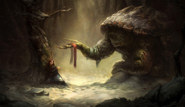 Fantasy art artwork fan HD wallpaper