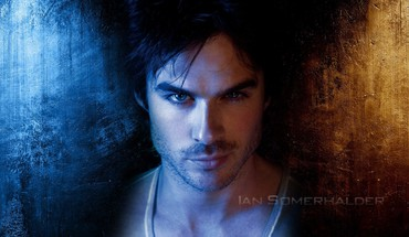 Brunettes blue eyes men actors ian somerhalder stubble HD wallpaper