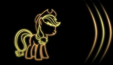 Applejack my little pony lights HD wallpaper