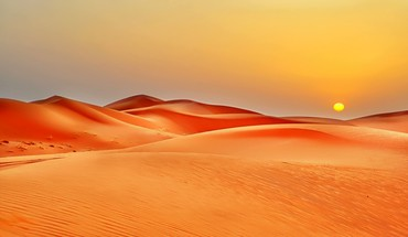 Nature sun desert sand dunes HD wallpaper
