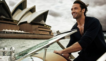 Sydney smiling actors hugh jackman driving sea HD wallpaper