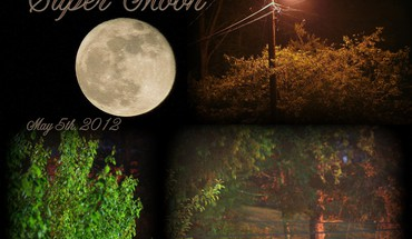 Super moon collage HD wallpaper