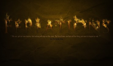 Fire quotes typography HD wallpaper