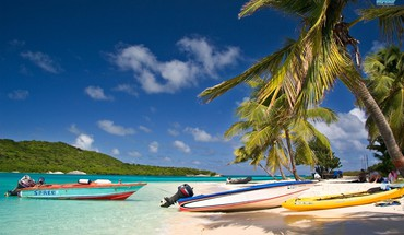 Boats oceans trinidad tobago and beaches HD wallpaper