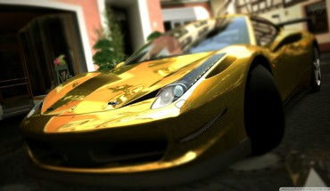 Gold Ferrari 458 Italia  HD wallpaper