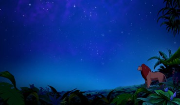 Animated movies the lion king jungle night sky HD wallpaper