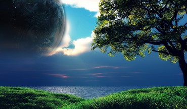 Grass planets HD wallpaper