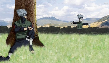 Fields naruto: shippuden scarecrow sitting kakashi hatake HD wallpaper