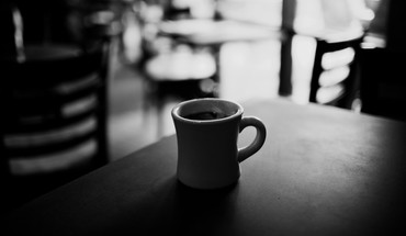 Coffee cups monochrome HD wallpaper