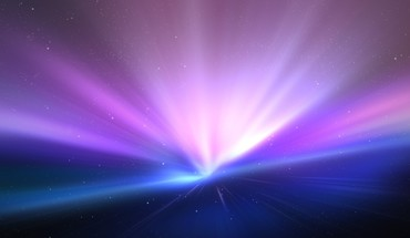 Light blue outer space stars mac purple aurora HD wallpaper
