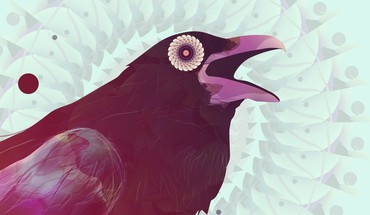 Abstract birds animals digital art artwork crows ravens HD wallpaper