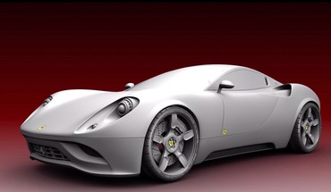 Ferrari concept cars vehicles white HD wallpaper