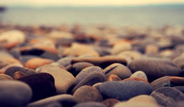 Stones pebbles depth of field HD wallpaper