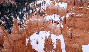 Landscapes nature bryce canyon utah national park snowy HD wallpaper