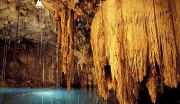 Nature mexique lacs souterrains grottes formations rocheuses HD wallpaper