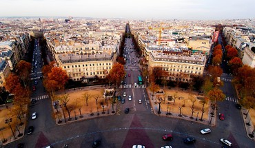 France paris aerial HD wallpaper