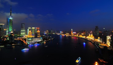 Shanghai huangpu river HD wallpaper