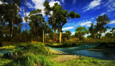 Wonderful corner of nature hdr HD wallpaper