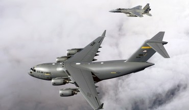 Aircraft f-15 eagle c-17 globemaster war HD wallpaper