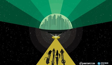 Silhouettes paths wizard of oz artwork cities HD wallpaper
