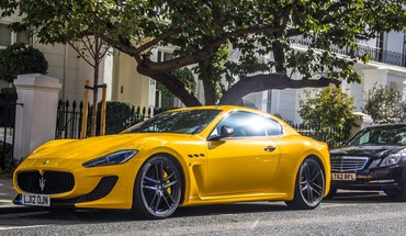 Cars yellow maserati granturismo mc HD wallpaper