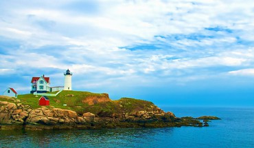 Phare sur York Beach dans le Maine  HD wallpaper