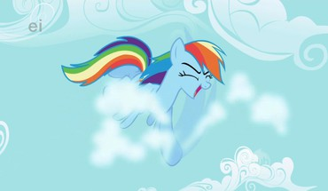 My little pony rainbow dash karate HD wallpaper