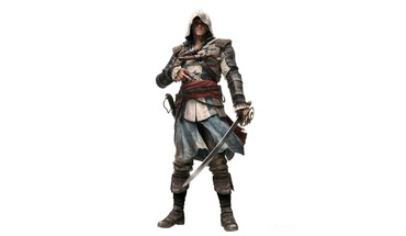 White background 4: black flag edward kenway HD wallpaper