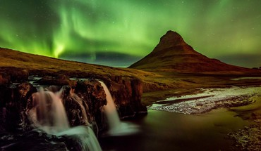 Landscapes nature night aurora iceland HD wallpaper