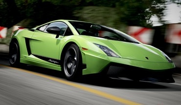 Forza motorsport 4 lamborghini gallardo cars green HD wallpaper