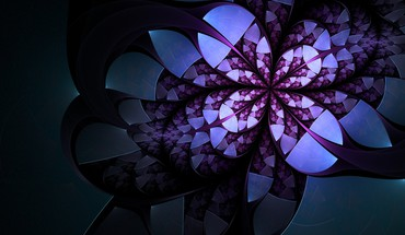 Abstract flowers artwork HD wallpaper