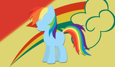 Poneys rainbow dash poney: l'amitié est magique  HD wallpaper