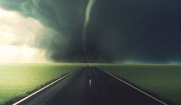 Tornado paths roads skyscapes storm HD wallpaper