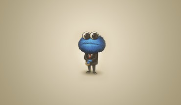 Cookie monster sesame street huge head HD wallpaper